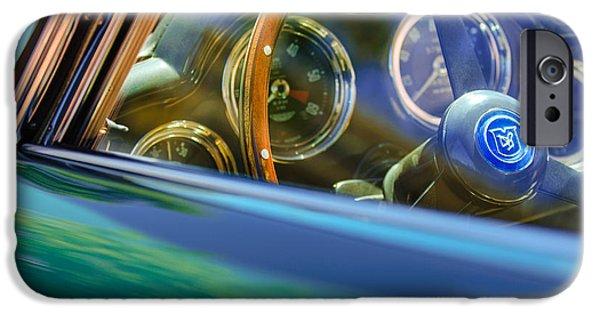 1960 iPhone Cases - 1960 Aston Martin DB4 Series II Steering Wheel iPhone Case by Jill Reger