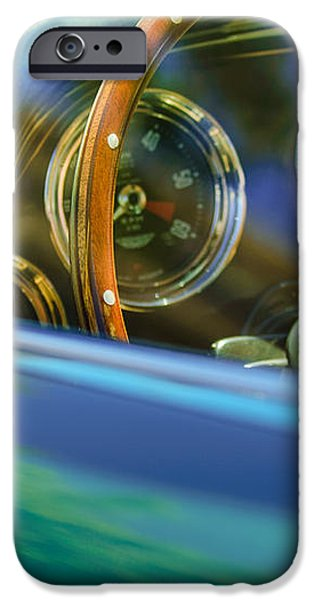 1960 Aston Martin DB4 Series II Steering Wheel iPhone Case by Jill Reger