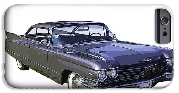 V8 iPhone Cases - 1960 Cadillac - Classic Luxury Car iPhone Case by Keith Webber Jr