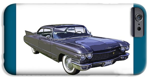 Model iPhone Cases - 1960 Cadillac - Classic Luxury Car iPhone Case by Keith Webber Jr