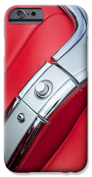 1960 Chevrolet Corvette Compartment iPhone Case by Jill Reger