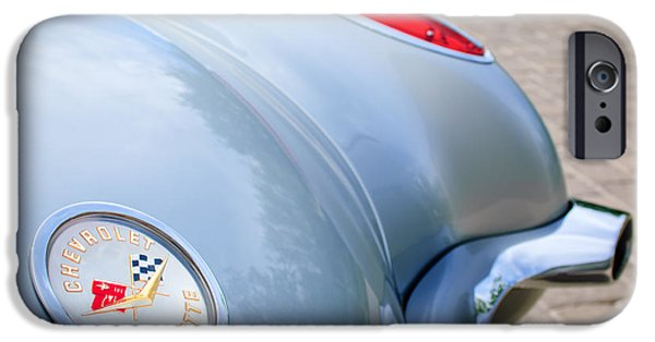 1960 iPhone Cases - 1960 Chevrolet Corvette Emblem - Taillight iPhone Case by Jill Reger