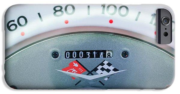 1960 iPhone Cases - 1960 Chevrolet Corvette Speedometer iPhone Case by Jill Reger