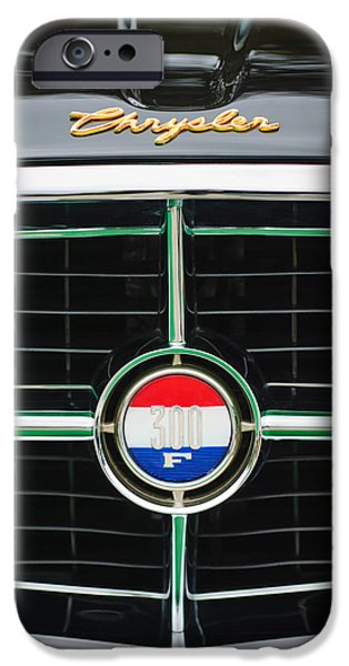 1960 iPhone Cases - 1960 Chrysler 300F Convertible Grille Emblem iPhone Case by Jill Reger