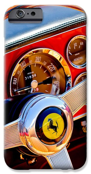 Steering iPhone Cases - 1960 Ferrari 250 GT Cabriolet Pininfarina Series II Steering Wheel Emblem -1319c iPhone Case by Jill Reger