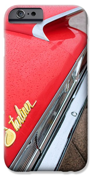 1960 Ford Galaxie Starliner Taillight Emblem iPhone Case by Jill Reger
