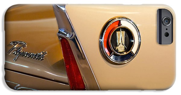 Fury iPhone Cases - 1960 Plymouth Fury Convertible Taillight and Emblem iPhone Case by Jill Reger