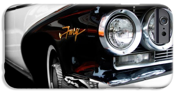 Fury iPhone Cases - 1960 Plymouth Fury  iPhone Case by Steven  Digman