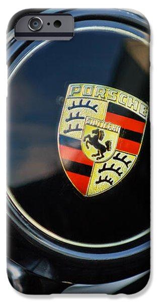 1960 Porsche 356 B Roadster Steering Wheel Emblem iPhone Case by Jill Reger