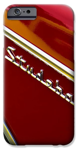 1960 Studebaker Hawk iPhone Case by Carol Leigh
