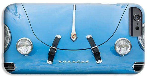Replica iPhone Cases - 1960 Volkswagen Porsche 356 Carrera GS GT Replica  iPhone Case by Jill Reger