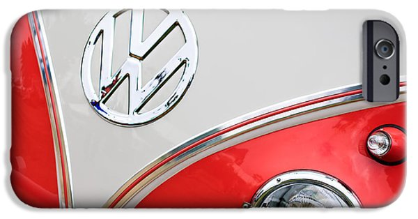 23 iPhone Cases - 1960 Volkswagen VW 23 Window Microbus Emblem iPhone Case by Jill Reger