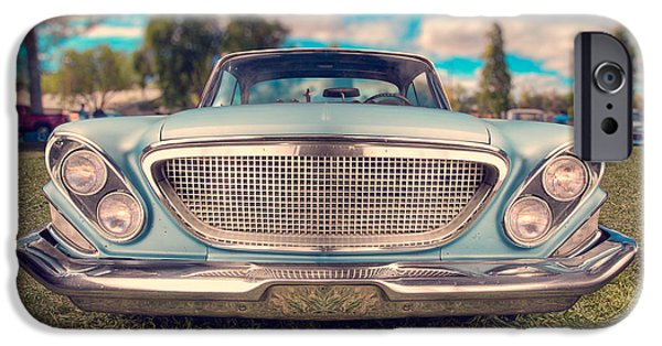 Antiques iPhone Cases - 1961 Chrysler Newport iPhone Case by Yo Pedro