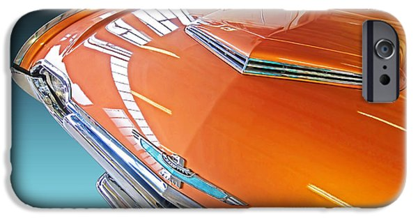 Indy Car iPhone Cases - 1961 Thunderbird Reflections iPhone Case by Gill Billington