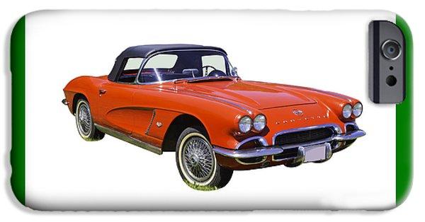Antiques iPhone Cases - 1962 Chevrolet Corvette convertible iPhone Case by Keith Webber Jr