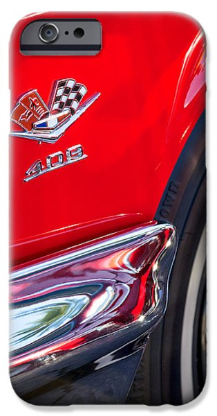 Muscle iPhone Cases - 1962 Chevrolet Impala SS 409 Emblem iPhone Case by Jill Reger