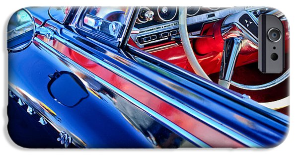 500 iPhone Cases - 1962 Dodge Polara 500 Steering Wheel iPhone Case by Jill Reger