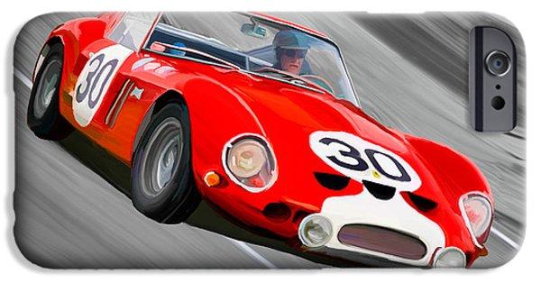 Ferrari 250 Gto iPhone Cases - 1962 Ferrari 250 GTO iPhone Case by Wally Hampton