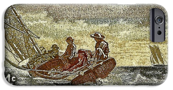 Us Postal Service iPhone Cases - 1962 Winslow Homer Postage Stamp iPhone Case by David Patterson