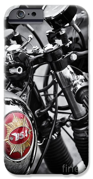 Culture iPhone Cases - 1963 BSA Rocket Goldstar iPhone Case by Tim Gainey