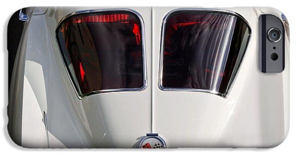 Split iPhone Cases - 1963 Chevrolet Corvette Split Window -399c iPhone Case by Jill Reger