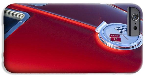 Split iPhone Cases - 1963 Chevrolet Corvette Split Window iPhone Case by Jill Reger