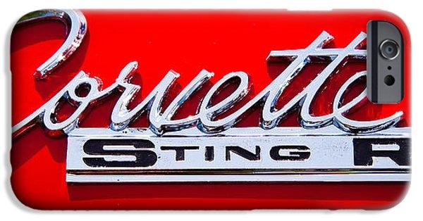Automotive iPhone Cases - 1963 Chevy Corvette Stingray Emblem iPhone Case by David Patterson