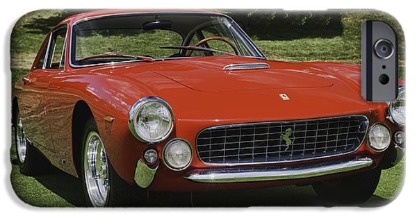 Automotive iPhone Cases - 1963 Ferrari 250 GT Lusso iPhone Case by Sebastian Musial