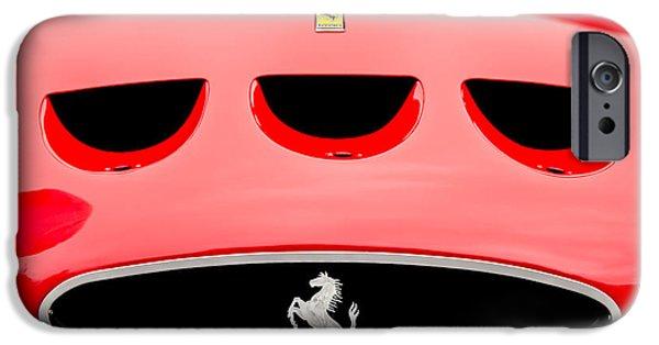 Ferrari 250 Gto iPhone Cases - 1963 Ferrari 250 Gto Grille Emblem -1753c iPhone Case by Jill Reger