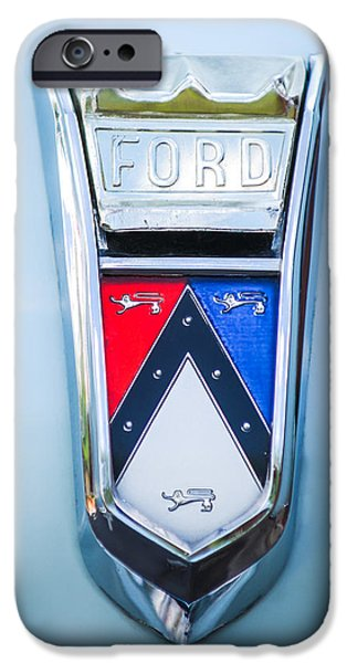 1963 Ford Falcon Futura Convertible Emblem iPhone Case by Jill Reger