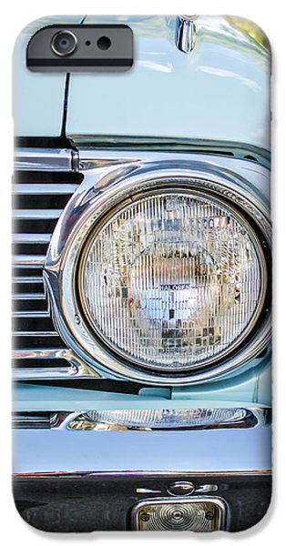 1963 Ford Falcon Futura Convertible Headlight - Hood Ornament iPhone Case by Jill Reger