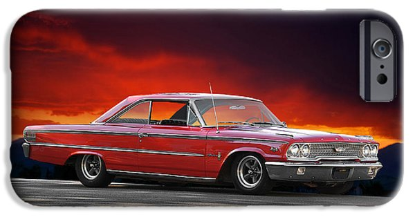 Slick iPhone Cases - 1963 Ford Galaxie 427 iPhone Case by Dave Koontz