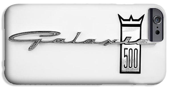 Lightweight iPhone Cases - 1963 Ford Galaxie 500 R-Code Factory Lightweight Emblem iPhone Case by Jill Reger