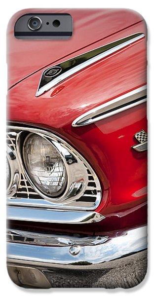1964 Ford Emblem iPhone Cases - 1963 Ford Galaxie 500 XL iPhone Case by Gordon Dean II
