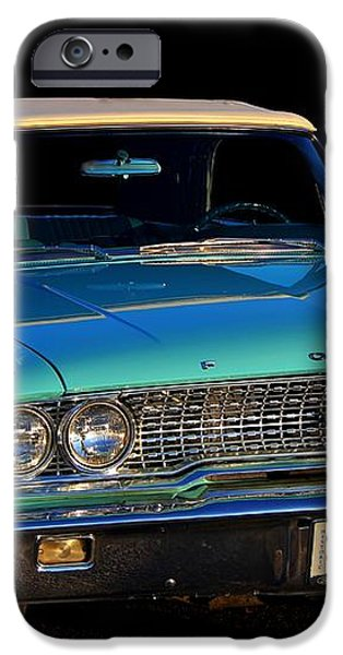 1963 Ford Galaxy iPhone Case by Davandra Cribbie