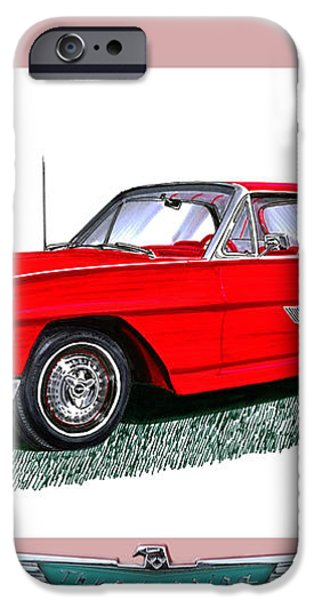 1963 Ford Thunderbird iPhone Case by Jack Pumphrey