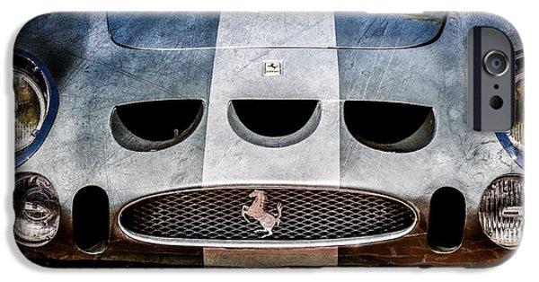 Print Photographs iPhone Cases - 1964 Ferrari 275 GTB-C Speciale Grille -0959ac iPhone Case by Jill Reger