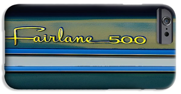 1964 Ford Emblem iPhone Cases - 1964 Ford Fairlane 500 Emblem iPhone Case by Jill Reger