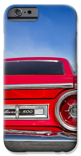 1964 Ford Emblem iPhone Cases - 1964 Ford Galaxie 500 Taillight and Emblem iPhone Case by Ron Pate