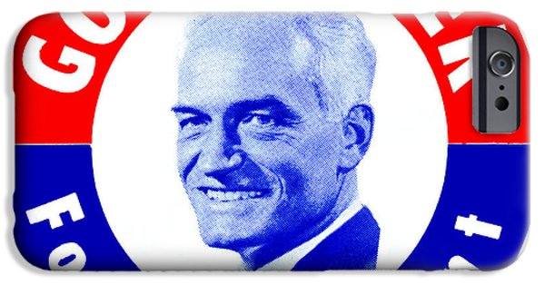 American Conservative Party iPhone Cases - 1964 Goldwater for President iPhone Case by Historic Image