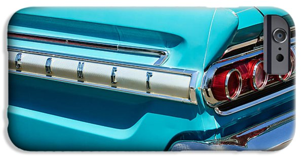 Comets iPhone Cases - 1964 Mercury Comet Taillight Emblem iPhone Case by Jill Reger