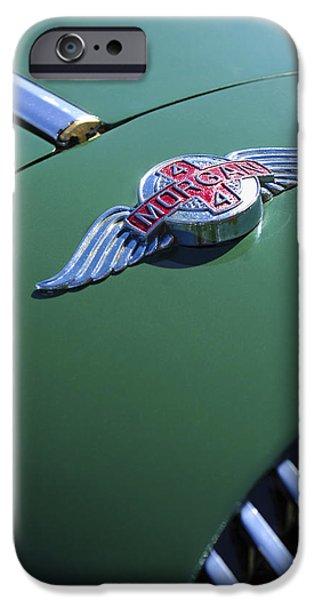 1964 Morgan 44 Hood Ornament iPhone Case by Jill Reger