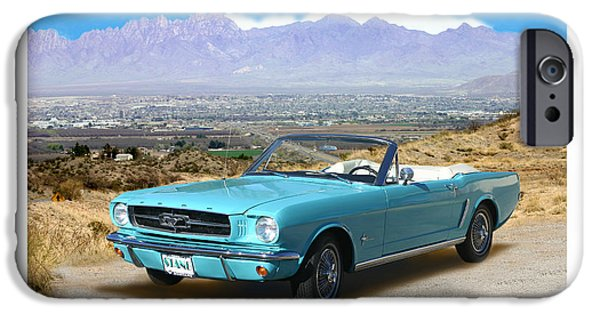 First Introduction iPhone Cases - 1964 Mustang Convertible iPhone Case by Jack Pumphrey