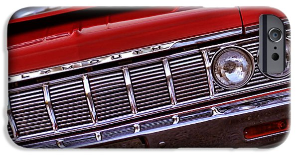 1969 Dodge Charger Stock Car iPhone Cases - 1964 Plymouth Savoy iPhone Case by Gordon Dean II