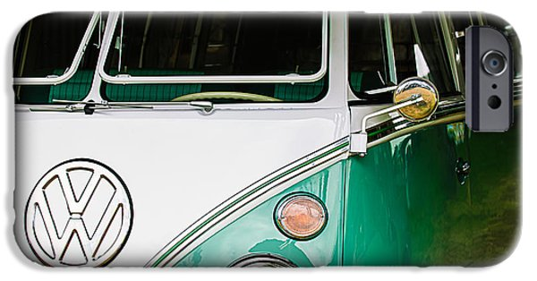 Bus Photographs iPhone Cases - 1964 Volkswagen VW Samba 21 Window Bus iPhone Case by Jill Reger