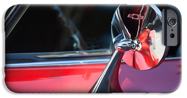 Rear View iPhone Cases - 1965 Chevrolet Corvette Rear View Mirror Emblem iPhone Case by Jill Reger