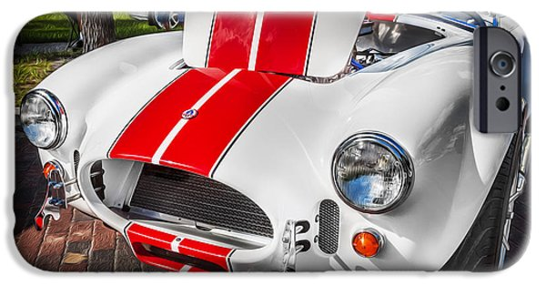 Carroll Shelby iPhone Cases - 1965 Ford AC Cobra Painted   iPhone Case by Rich Franco