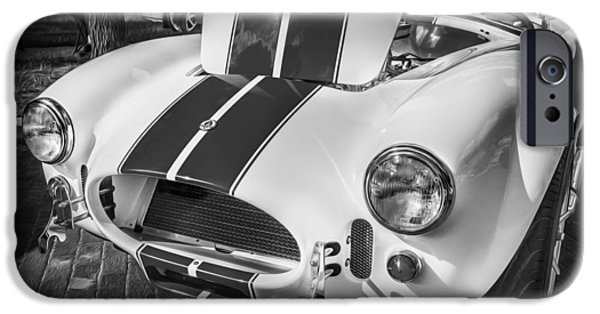 Carroll Shelby iPhone Cases - 1965 Ford AC Cobra Painted BW  iPhone Case by Rich Franco