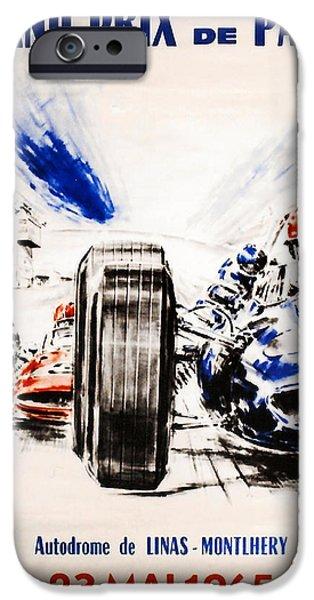 1965 Grand Prix de Paris iPhone Case by Nomad Art And  Design
