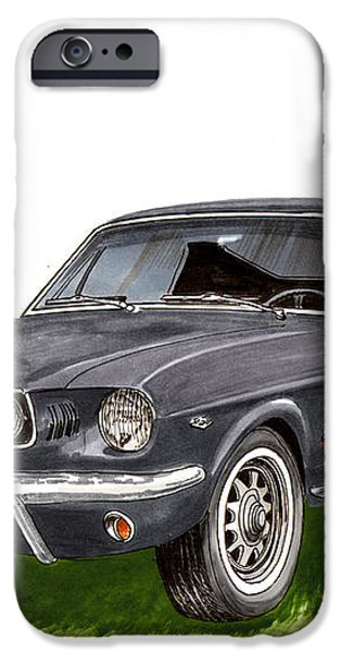 1965 Mustang Fastback iPhone Case by Jack Pumphrey